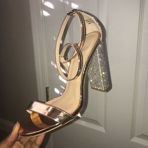 Windsor Glitter Rose Gold Heels